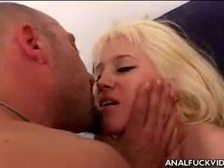 Porn Tube of Dirty Blonde Babe  Has  Asshole Finger-nailed