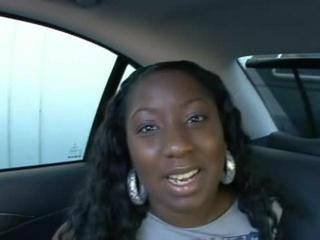 Porno Video of Huge-breasted Black Gal  Nails Boner In The Backseat