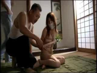 Porn Tube of Tied-up Japanese Invaded By 2 Dirty Perverts