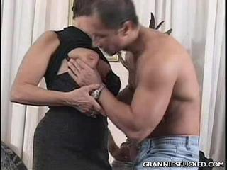 Porno Video of Dirty Grandma Sucks Manhood