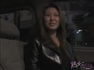 Porn Tube of Shameless Girl Wearing Leather Long-sleeves Interviewed At Vehicle