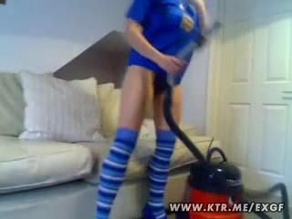 Porn Tube of Kinky Girl Pleasures Cunt With Vacuum