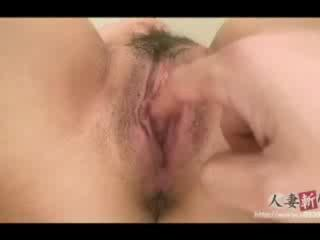 Sex Movie of Hairy Asian Twat Fingered