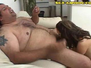 Porno Video of Bizarre Fat Man Blowjob