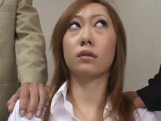 Porno Video of Hirsute Asian Cumming For Entire Office!