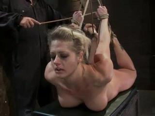 Porn Tube of Wild Whore Cums Over Being Tied Up