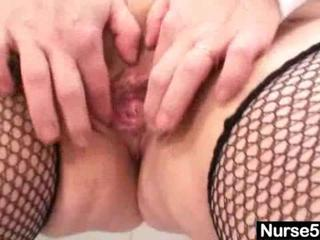 Sex Movie of Busty Nurse Exposes Pussy Muscle Throbbing